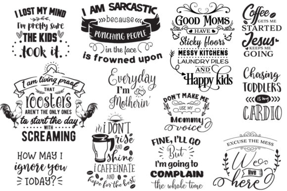 The Sarcastic Mom Bundle Graphic Crafts By Nerd Mama Cut Files - Image 8