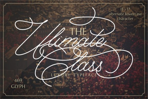 Print on Demand: The Ultimate Class Script & Handwritten Font By putracetol
