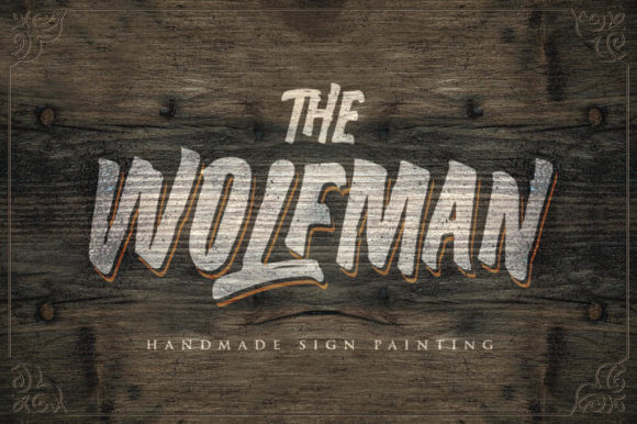 Print on Demand: The Wolfman Display Font By lickermelody - Image 14