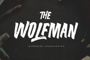 The Wolfman Font By lickermelody