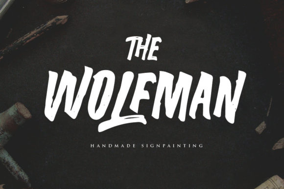 Print on Demand: The Wolfman Display Font By lickermelody