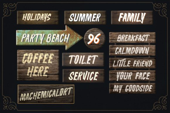 Print on Demand: The Wolfman Display Font By lickermelody - Image 8