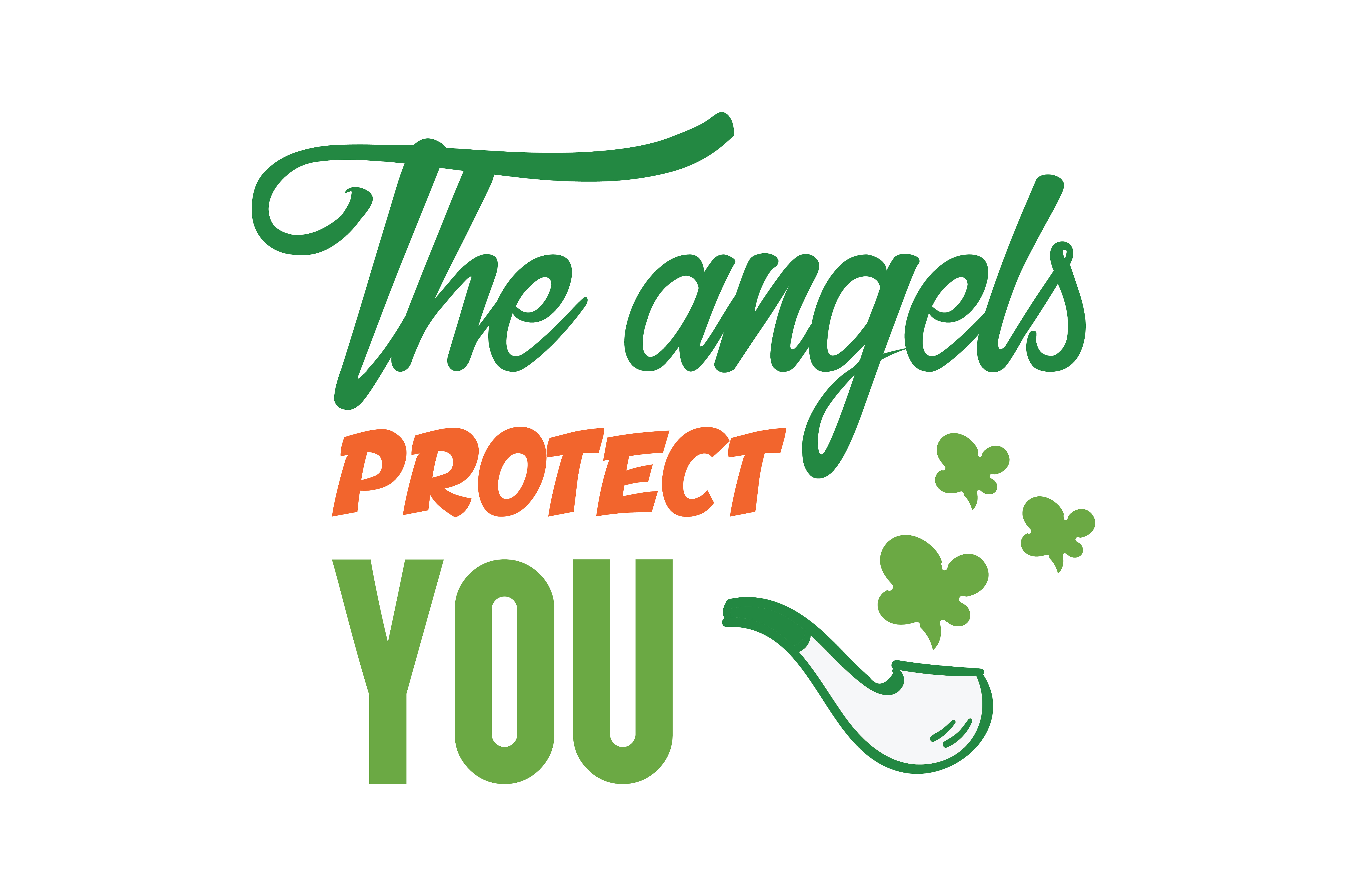 Download Free The Angels Protect You Quote Svg Cut Graphic By Thelucky for Cricut Explore, Silhouette and other cutting machines.