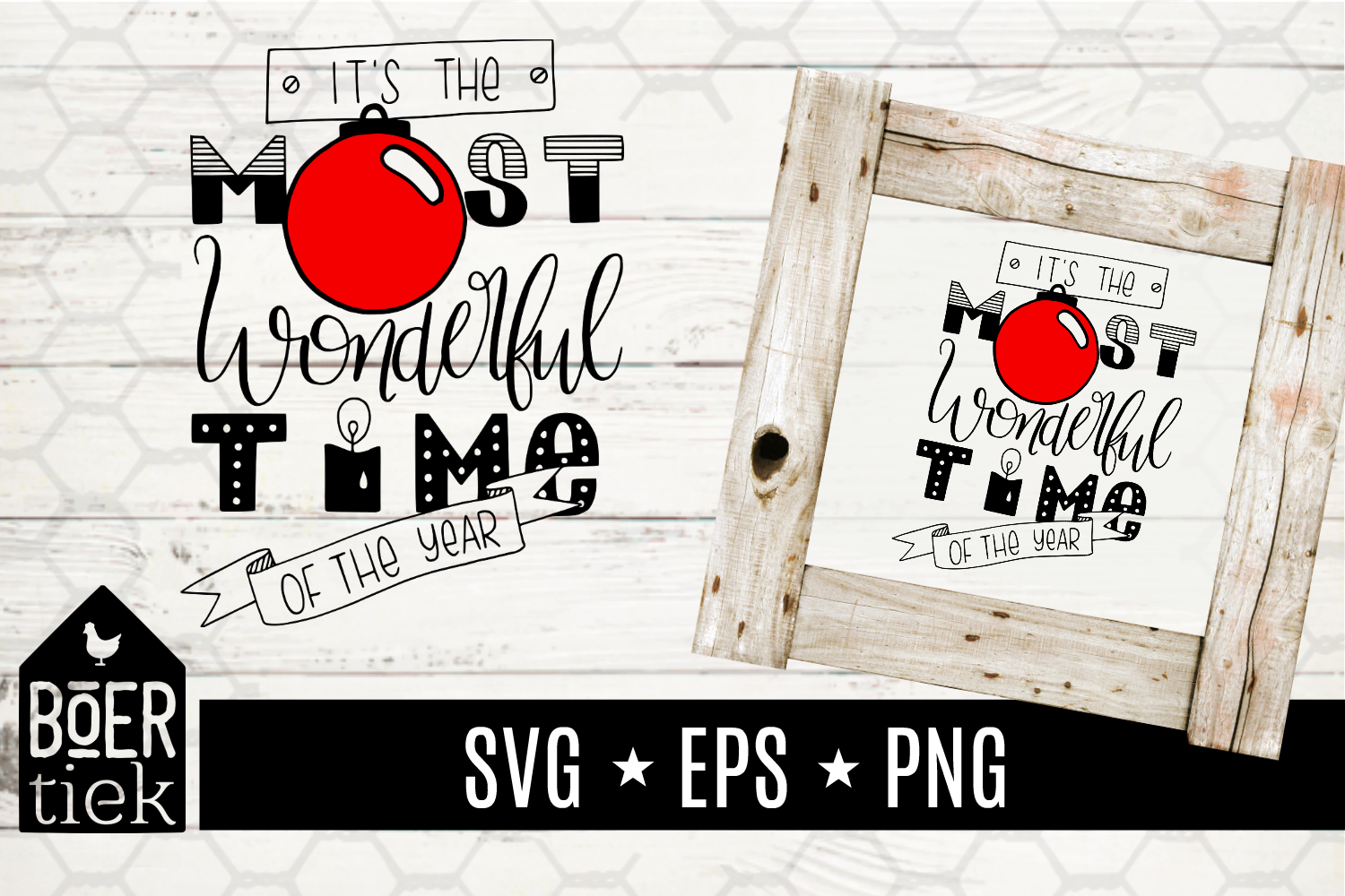 Download Free The Most Wonderful Time Graphic By Boertiek Creative Fabrica for Cricut Explore, Silhouette and other cutting machines.