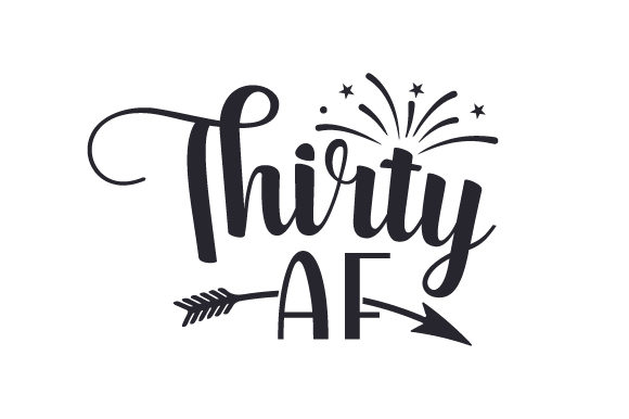 Download Free Thirty Af Svg Cut File By Creative Fabrica Crafts Creative Fabrica for Cricut Explore, Silhouette and other cutting machines.