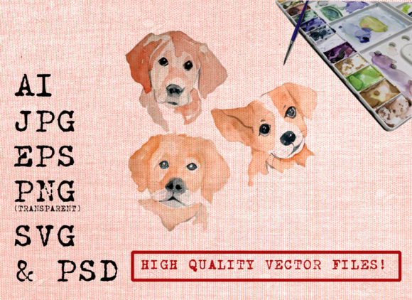 Three Cute Dogs Graphic By Ambar Art