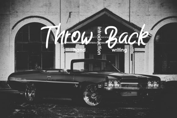 Throw Back Script & Handwritten Font By esto type