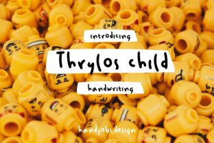 Thrylos Child Font By Hdjs.design