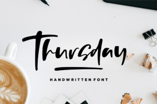 Thursday Font By Sronstudio