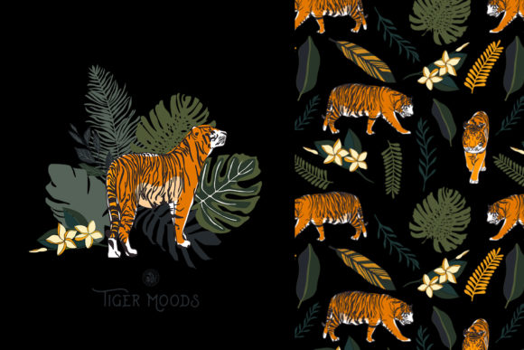 Tiger Moods Graphic Illustrations By webvilla - Image 3