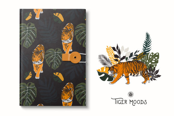 Tiger Moods Graphic Illustrations By webvilla - Image 5