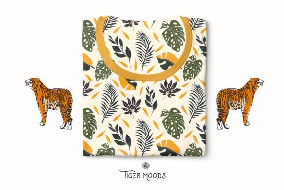 Tiger Moods Graphic Illustrations By webvilla - Image 8