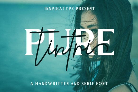 Print on Demand: Tintri Pure Duo Script & Handwritten Font By InspiraType