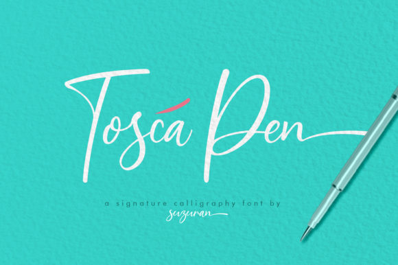 Print on Demand: Tosca Pen Script Script & Handwritten Font By suzurantype