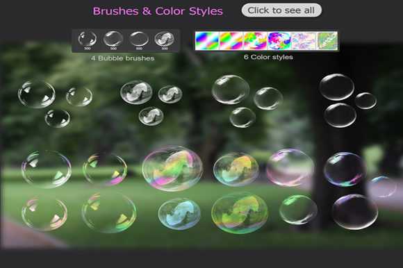 Transparent Bubble Overlays +brushes Graphic By MixPixBox Image 4
