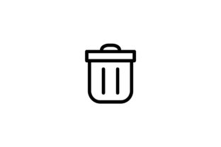 Download Free Trash Icon Graphic By Kanggraphic Creative Fabrica for Cricut Explore, Silhouette and other cutting machines.