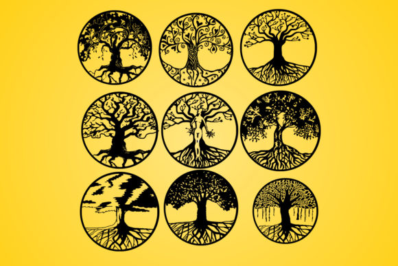 Life Of Tree Tree Vector Silhouette Graphic By Johanruartist