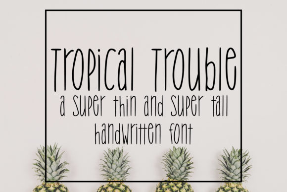 Print on Demand: Tropical Trouble Sans Serif Font By SavoringSurprises - Image 1