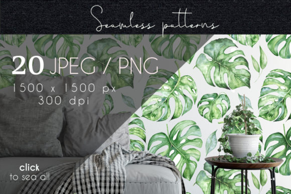Tropical Seamless Patterns Graphic Patterns By EvgeniiasArt