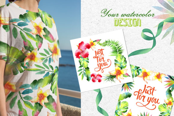 Print on Demand: Tropics Watercolor Png Graphic Illustrations By MyStocks - Image 4