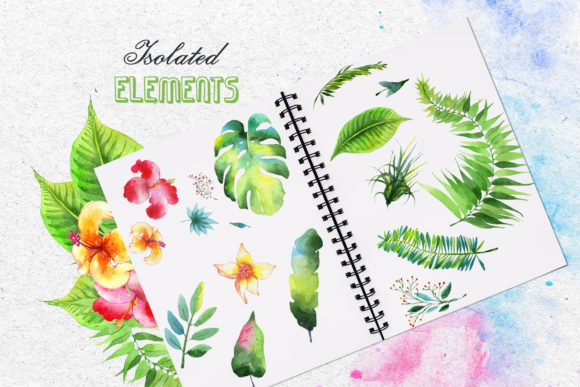 Print on Demand: Tropics Watercolor Png Graphic Illustrations By MyStocks - Image 7