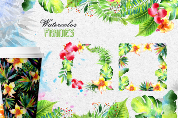 Print on Demand: Tropics Watercolor Png Graphic Illustrations By MyStocks - Image 8