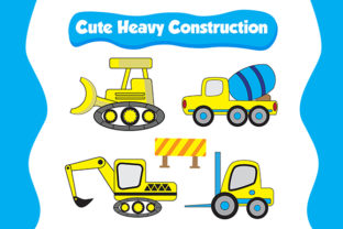 Truck for Heavy Construction Graphic By Kotak Kuning Studio