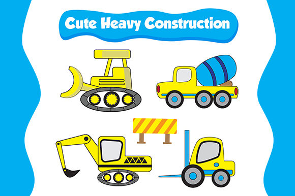 Print on Demand: Truck for Heavy Construction Graphic Illustrations By Kotak Kuning Studio