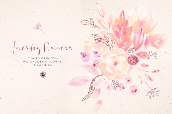 Print on Demand: Tuesday Flowers Graphic Illustrations By webvilla