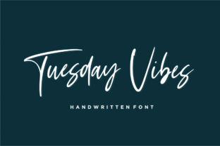Tuesday Vibes Font By Sronstudio