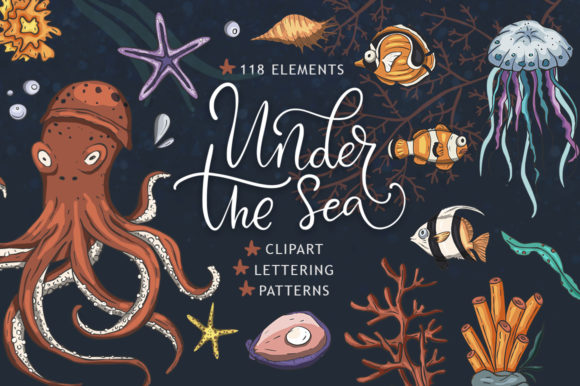 Print on Demand: Under the Sea Big Graphic Set Graphic Illustrations By Red Ink