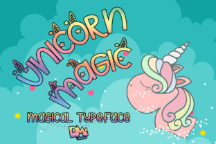 Unicorn Magic Font By dmletter31