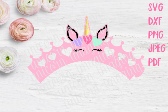 Download Free Unicorn Princess Cupcake Wrapper Template Graphic By Unicorn for Cricut Explore, Silhouette and other cutting machines.