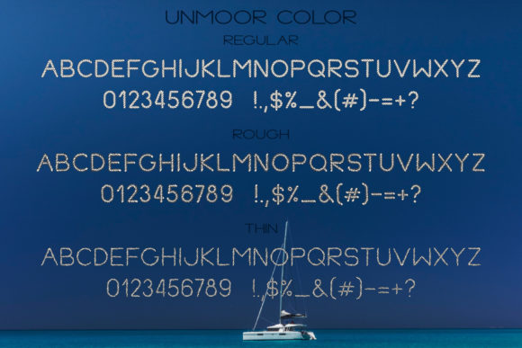 Print on Demand: Unmoor Family Color Fonts Font By Anastasiia Macaluso - Image 4