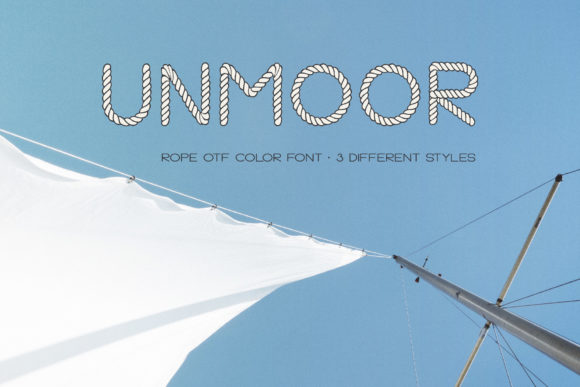 Print on Demand: Unmoor Family Color Fonts Font By Anastasiia Macaluso