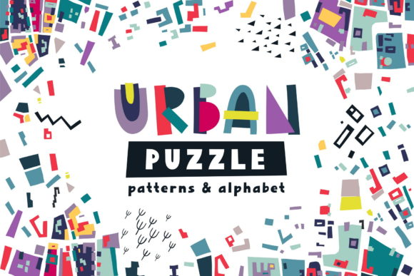 Print on Demand: Urban Puzzle - Patterns & Alphabet Graphic Patterns By struvictory