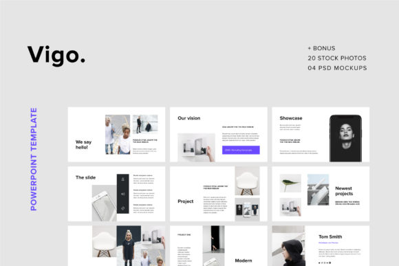 Print on Demand: VIGO - Powerpoint Template + Bonus Graphic Presentation Templates By pixasquare