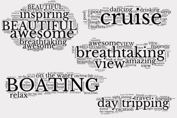 Download Free Vacation Travel Word Art Clusters Graphic By Anniecdigitals for Cricut Explore, Silhouette and other cutting machines.