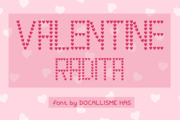 Print on Demand: Valentine Radita Decorative Font By Docallisme