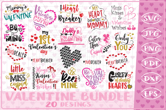 Valentine's Bundle Gráfico Crafts Por Cute Graphic