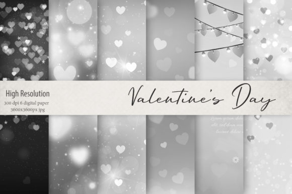 Print on Demand: Valentine's Day Textures Graphic Textures By Creative Paper