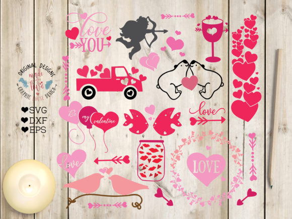 Print on Demand: Valentines Love Graphics Gráfico Ilustraciones Por GraphicHouseDesign