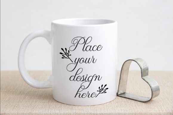 Print on Demand: Valentine's Coffee Mug Mock Up Graphic Product Mockups By Leo Flo Mockups