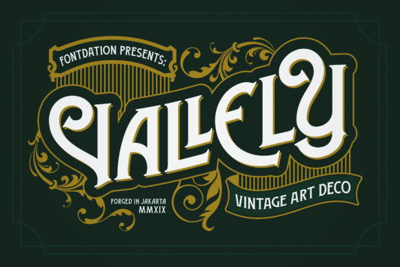 Print on Demand: Vallely Display Font By Fontdation