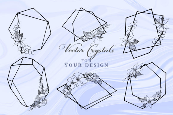 Print on Demand: Vector Collection of Crystal Shapes Graphic Illustrations By MyStocks - Image 4