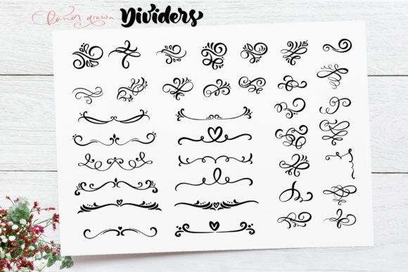 Download Free Vector Flourish Dividers Graphic By Happy Letters Creative Fabrica for Cricut Explore, Silhouette and other cutting machines.