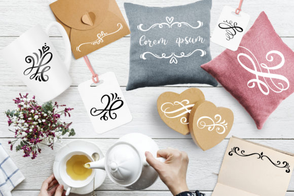 Vector Flourish Dividers SVG Graphic By Happy Letters Image 5