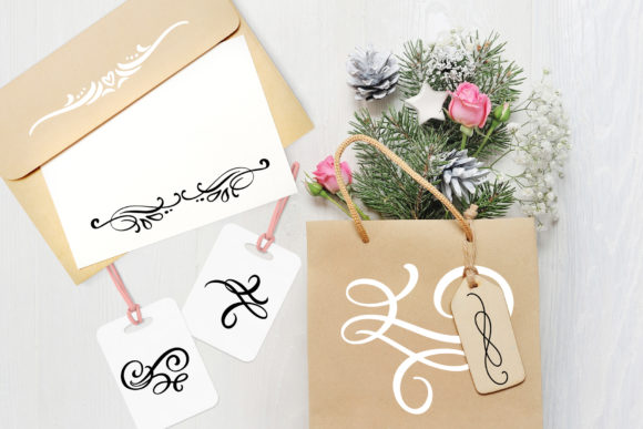 Vector Flourish Dividers SVG Graphic By Happy Letters Image 6