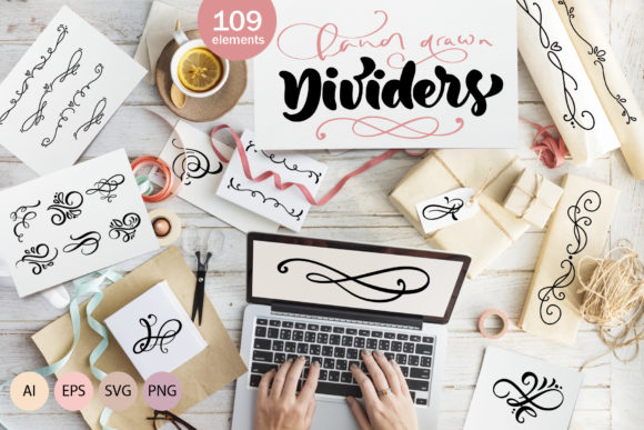 Vector Flourish Dividers SVG Graphic By Happy Letters