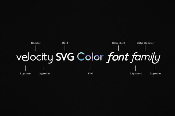 Print on Demand: Velocity Color Fonts Font By I Do Not Sleep - Image 3